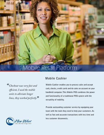 Mobile Cashier - New West Technologies