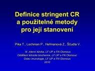 Píka - Definice stringent CR a použitelné metody pro její stanovení
