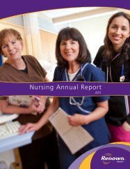 Nursing Annual Report 2011 - Renown Health