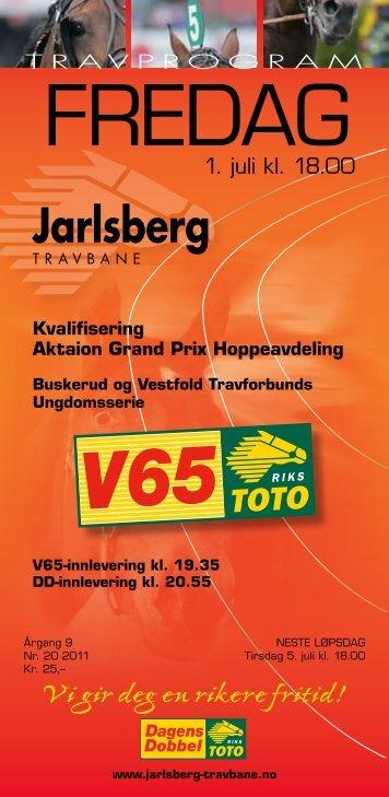 komplett baneprogram - Jarlsberg Travbane