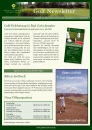 Newsletter Mai 2010 - Golfclub am Meer