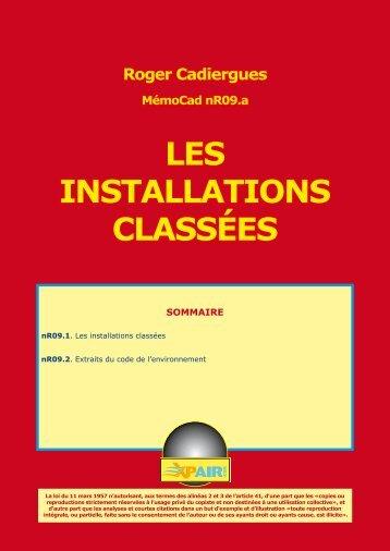 LES INSTALLATIONS CLASSÉES