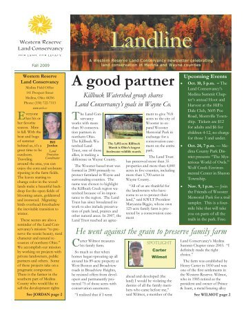 Medina Landline Fall 2009.pub - Western Reserve Land Conservancy