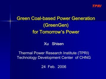Dr Xu Shisen - Expert Group on Clean Fossil Energy