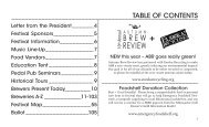 TABLE OF CONTENTS - Minnesota Craft Brewer's Guild