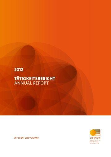Zum Jahresbericht 2012... - ZAE Bayern