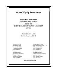 Short Engagement Touring Agreement (SETA) Rulebook 09