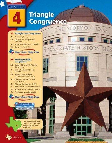 Chapter 4 Triangle Congruen