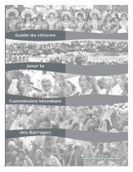 Guide du citoyen pour la Commission Mondiale des Barrages Guide ...
