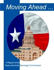 TABC Annual Report 2002 - Texas Alcoholic Beverage Commission