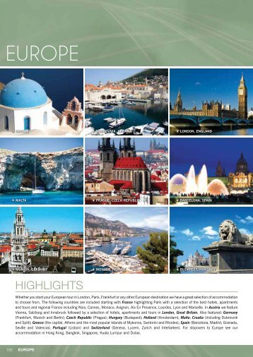 Page 1 HIGHLIGHTS 156 EUROPE Whether you start your ...