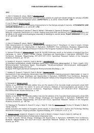 List of publications - MTA Mezőgazdasági Kutatóintézet