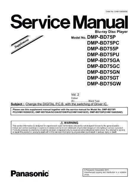 Panasonic DMP-BD75GW Blu-ray Player Treiber Herunterladen