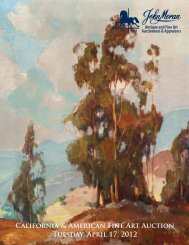 John Moran Auctioneers - California Art Auction