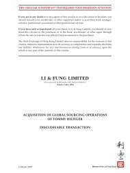 discloseable transaction - Li & Fung