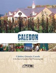 Caledon Food Sector Profile FINAL - Town of Caledon