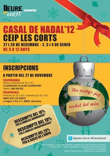 CASAL DE NADAL'12 - Club Lleuresport