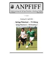 SpVgg Pittenhart – TV Obing