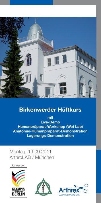 Birkenwerder Hüftkurs - Hüftarthroskopie Berlin