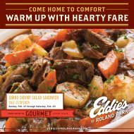 WARM UP WITH HEARTY FARE - Eddies of Roland Park