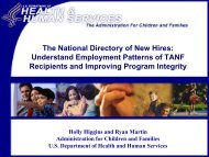 National Directory of New Hires (NDNH)