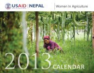 USAID Nepal Women in Agriculture - 2013 Calendar