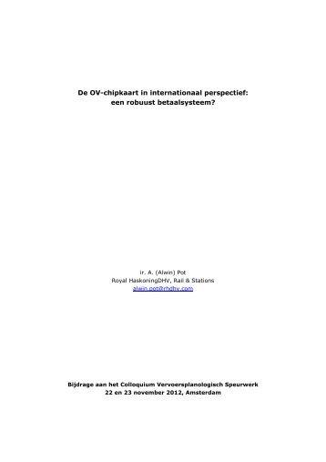 De OV-chipkaart in internationaal perspectief - Colloquium ...