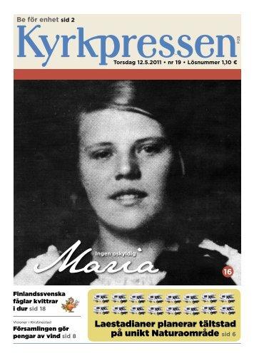 Kyrkpressen 19/2011 (PDF: 3MB)