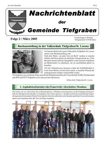 Folge 2 / März-April 2005 - Tiefgraben