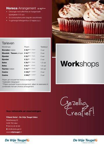 Klik hier voor de workshop flyer - Fitland