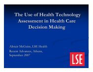 Health Technology Assessment and Priority Setting - Events