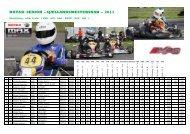 Slutresultat 2011 - HL Kart Racing