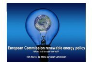 European Commission renewable energy policy European ...