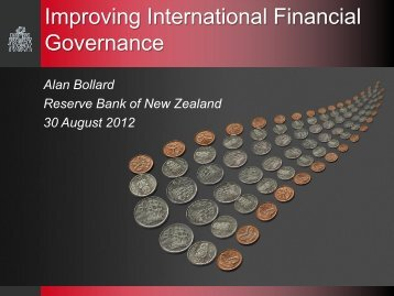 Improving International Financial Governance - Institute for ...