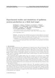 Experimental studies and simulations of spallation ... - ResearchGate