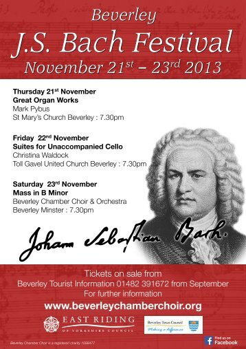 Download Festival Brochure Here - Beverley Chamber Choir