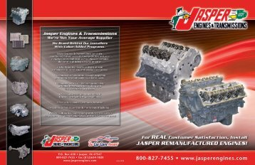 With JASPER You're Part of the Solution! - JASPER Engines ...