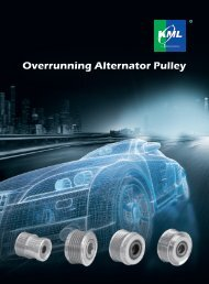 Overrunning Alternator Pulley - KML Bearing and Equipment Ltd.
