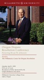 Oregon Dispute Resolution Conference - Willamette University