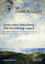 The Strindberg Legacy - Stockholms universitet