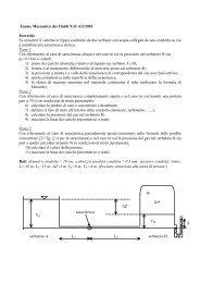 Esame Meccanica dei Fluidi N.O. 6/2/2003 Esercizio Si consideri il ...