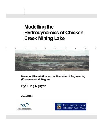 Modelling the Hydrodynamics of Chicken Creek Mining Lake