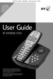BT Diverse 5350 User Guide.pdf 1220KB 02 Mar 2013 - Telephone ...