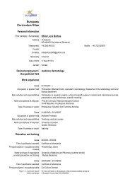 Europass CV - ITIM