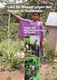 Wasserversorgungen - Verein Arztstation Tamahú - Guatemala