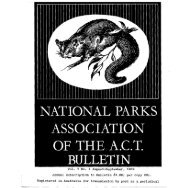Vol 7 No 1 Aug-Sep 1969 - National Parks Association of the ACT Inc.