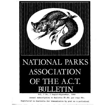 Vol 7 No 1 Aug-Sep 1969 - National Parks Association of the ACT Inc.