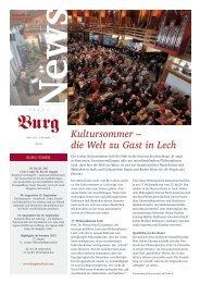 Kultursommer – die Welt zu Gast in Lech - BURG Hotel Oberlech