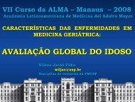 avaliação global do idoso - Academia Latinoamericana de Medicina ...