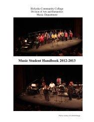 Music Student Handbook - Holyoke Community College